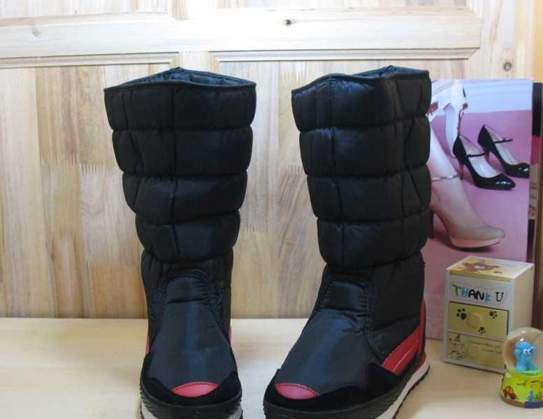 韩版中筒女式雪地靴 防水 防滑 黑色保暖鞋 雪地鞋