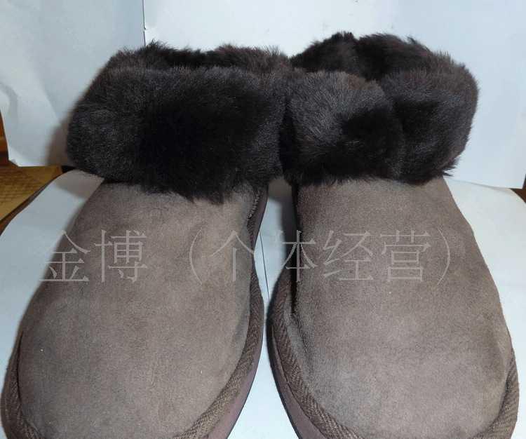 男士澳羊皮雪地靴皮毛一体靴子
