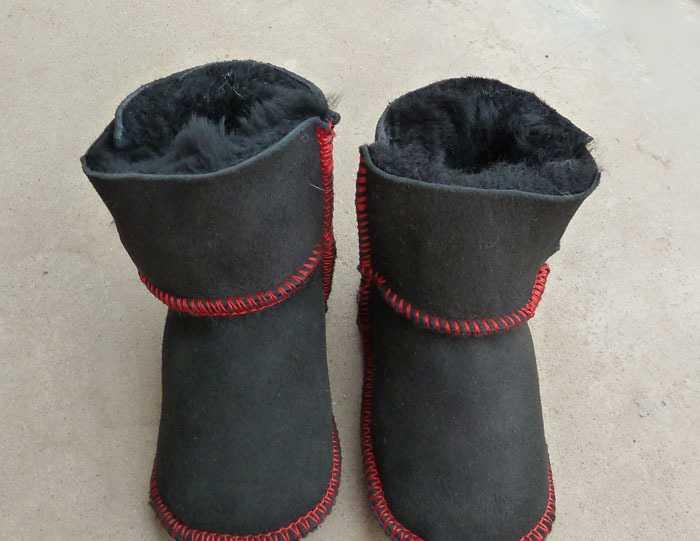 供应澳毛皮毛一体童鞋婴儿鞋学步鞋雪地靴双魔术贴童鞋批发