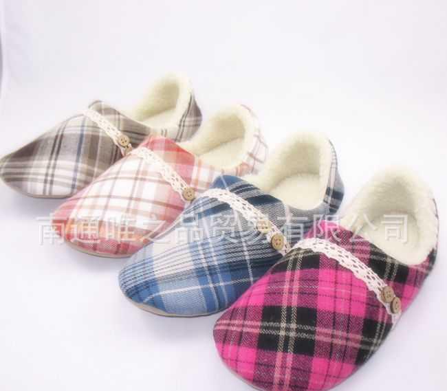 批发供应外贸原单拖鞋冬季保暖包后跟拖鞋英伦风格日韩流行