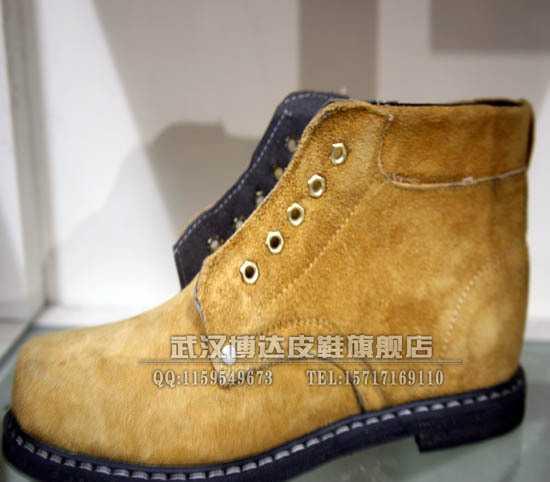 A02牛皮防砸防穿刺 安全鞋 劳保鞋 钢包头+钢板 防护鞋 工作鞋