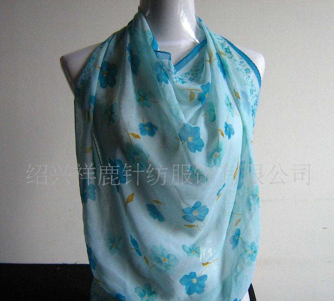 厂家专业生产供应全涤时尚印花丝巾