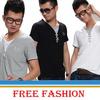 假两件时尚休闲t恤男式韩版休闲短袖t恤免费淘宝数据包一件代发feflaewafe