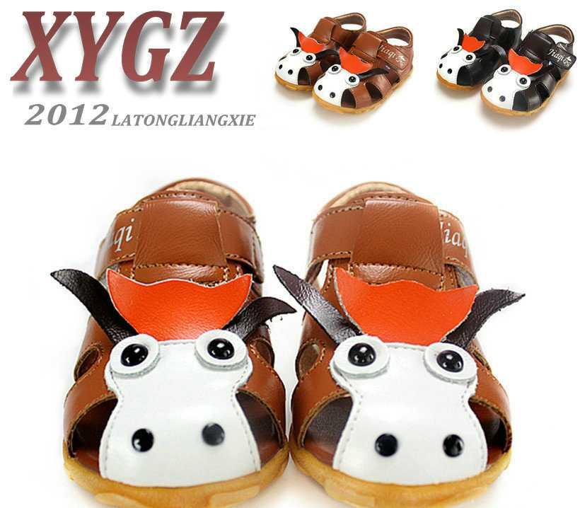 童鞋批发 2012夏季婴儿鞋 卡通驴头护趾包头男童凉鞋(15-19)A23