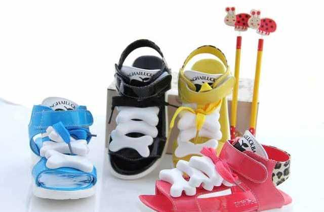 吉娃娃可爱骨头漆皮豹纹韩版童鞋女童凉鞋内赠钻笔一支27-31