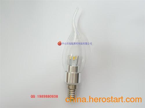 供应水晶灯专用LED蜡烛灯,5630全角蜡烛灯外壳