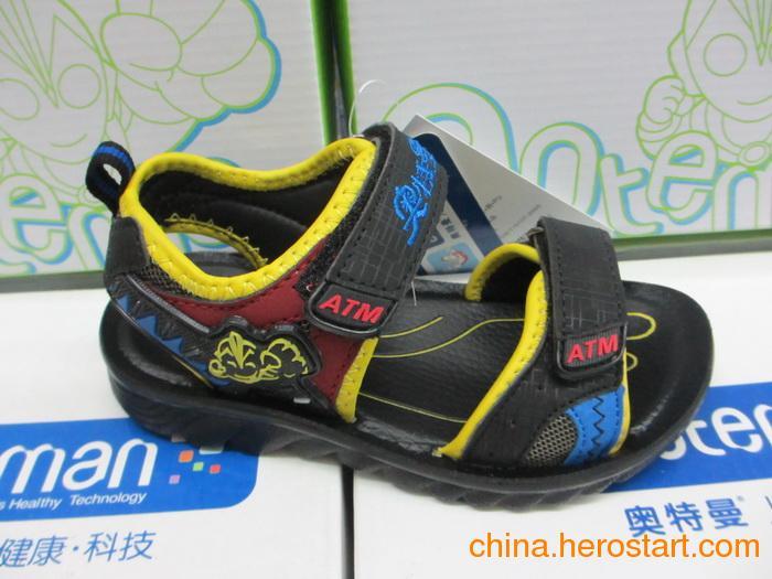 供应正品奥特曼带灯童凉鞋批发S2662库存2色小童