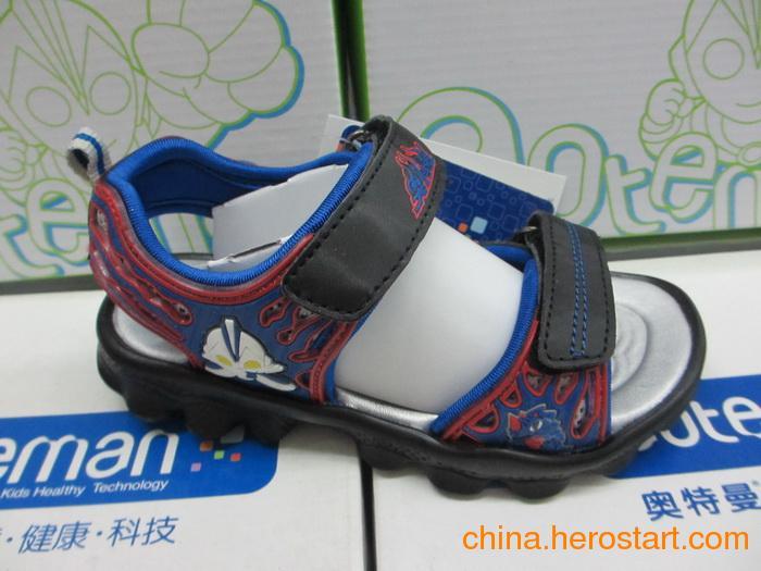 供应正品奥特曼带灯童凉鞋批发S2655