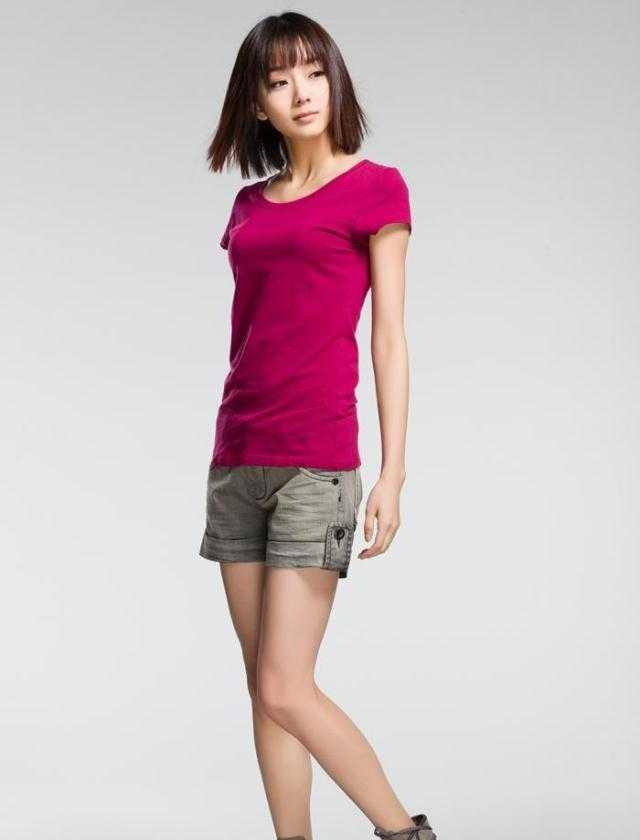 圣迪奥 圆领休闲T恤 女 短袖 修身 纯色百搭 简单时尚 2280102