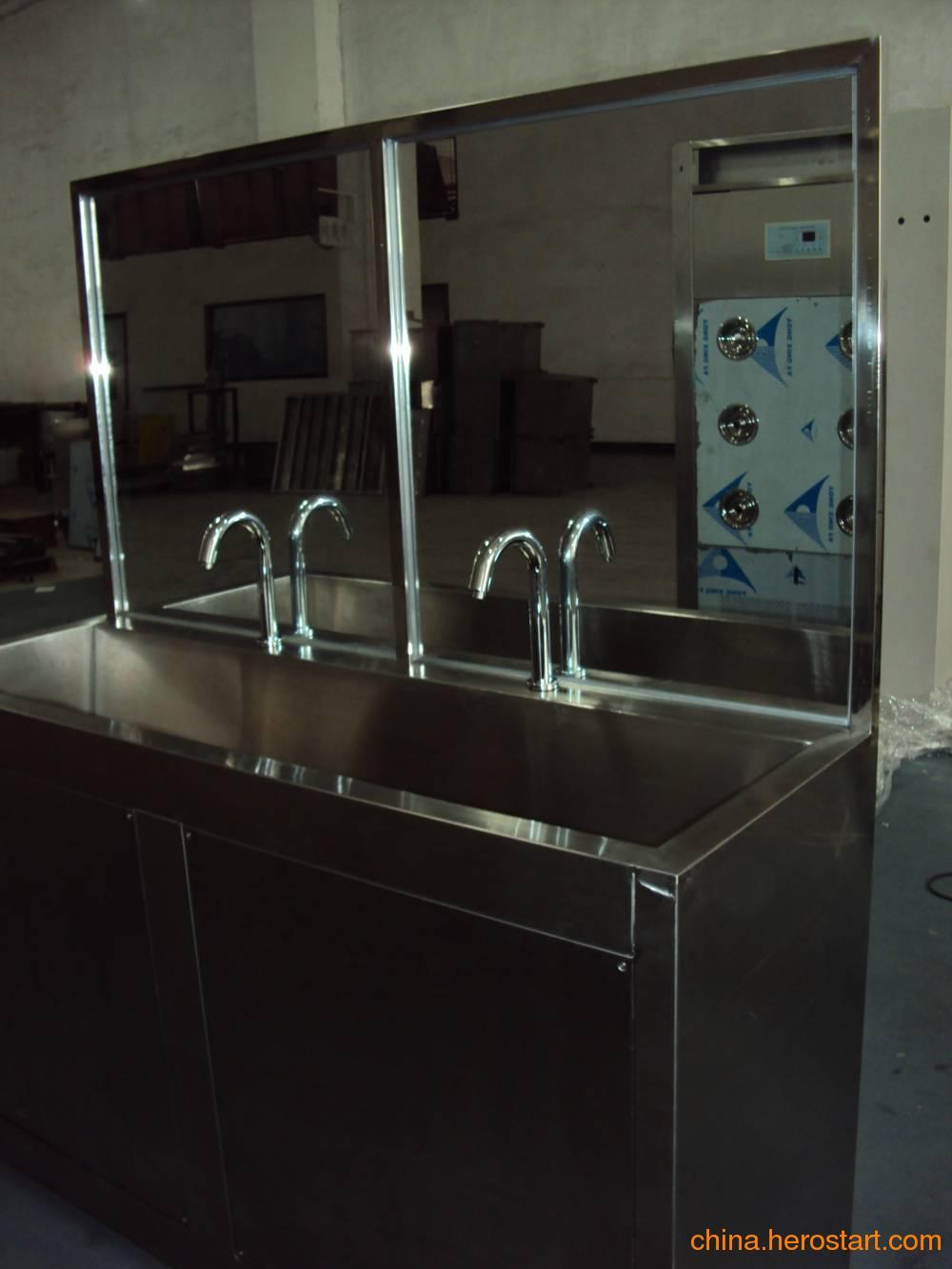 供应深圳不锈钢洗手池自动给皂自动感应水龙头洗手池全自动烘干洗手