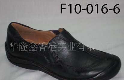 l蓝色打蜡牛皮休闲女装鞋F10-016C-4全真皮