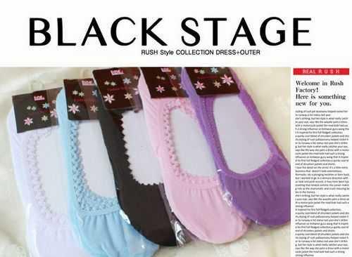 全棉糖果色女船袜 薄棉女士船袜子 多色随机发 袜子批发