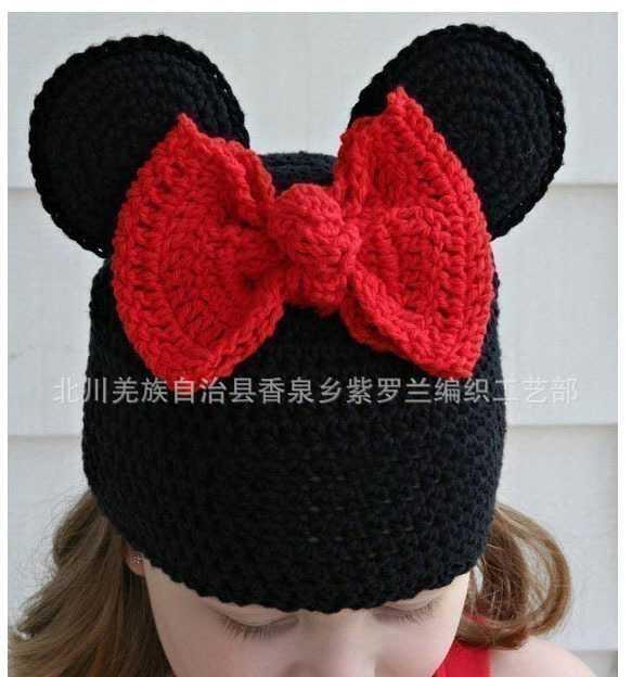 纯手工编织宝宝帽子 欧版热销米其造型儿童帽子 婴儿