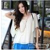 供应免费加盟韩版新款女装荷叶袖短袖大码女装雪纺上衣批发tlym8075