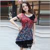 供应免费加盟 批发欧美时尚大码气质修身显瘦品牌连衣裙雪纺tlym8068