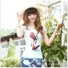 供应厂家批发 韩版修身圆领印花女士T恤白色大码短袖t恤tlym8050混批