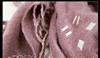 绕韵scarf   外贸围巾批发  休闲棕色仿羊绒亮片 钉珠三角巾1165