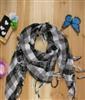 跃芳scarf  韩版新款休闲百搭格子三角巾/围巾