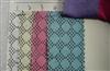 横纹布涤棉带银粉七彩粉菱形图案英文字母图案鞋材手袋箱包面料