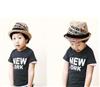 日常生活用品 韩国时尚儿童麻草帽/礼帽/爵士帽/遮阳草编帽-黑色