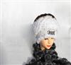 正宗时尚兔毛围巾 裘皮服饰 毛皮制品,獭兔编织帽,裘皮帽