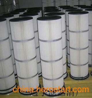 供应横插斜放式聚酯长纤维除尘滤芯