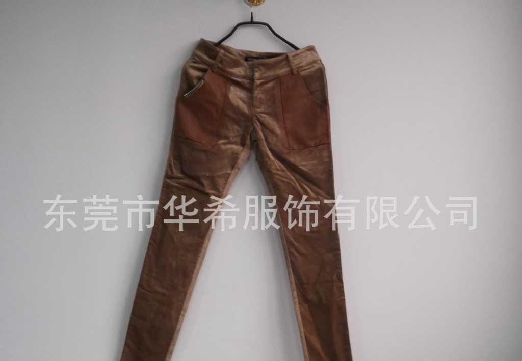 批发-新款时尚春装日韩版女装全棉修身休闲长裤来料加工-H9815