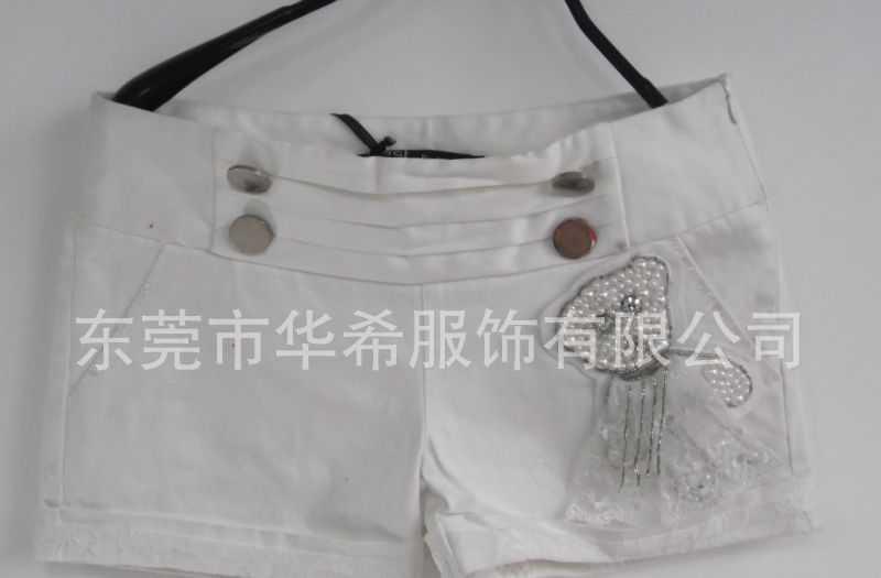 批发-新款时尚春装日韩版女装全棉修身休闲短裤来料加工-H9937
