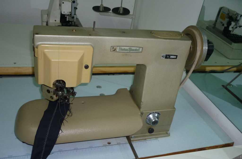 供应美国进口于仁二手工业用缝纫设备西服工装用撬领底机16-100H