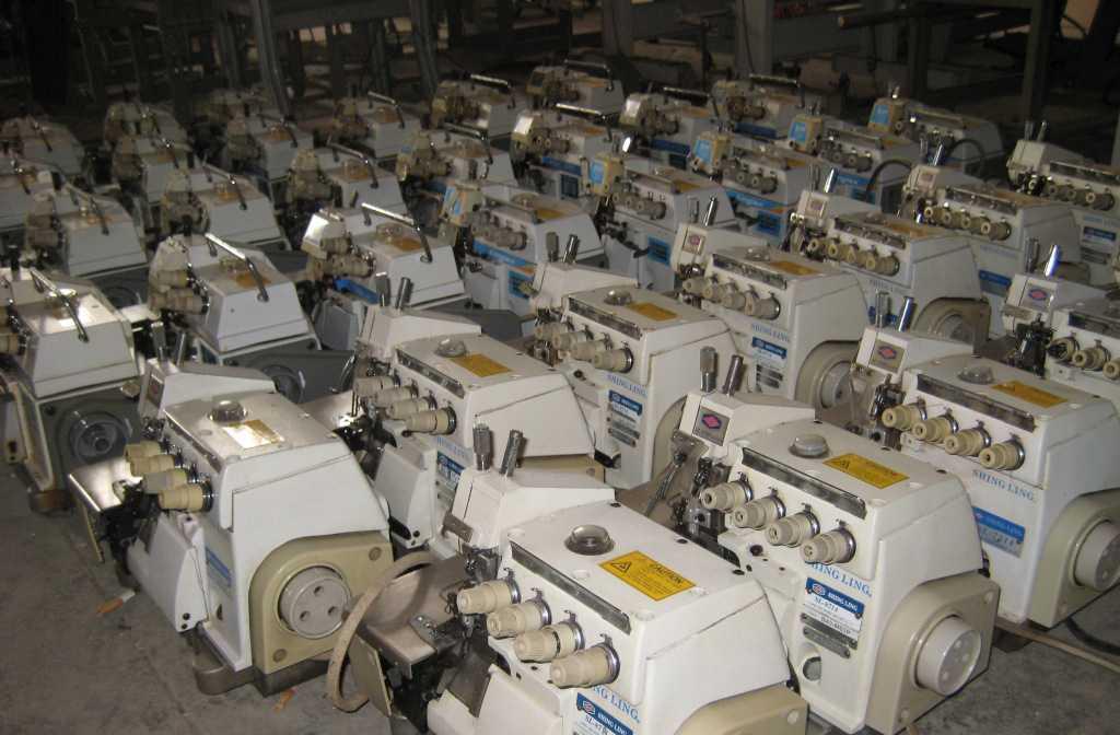 出售台湾宝狮6000型和7000型四线包缝机