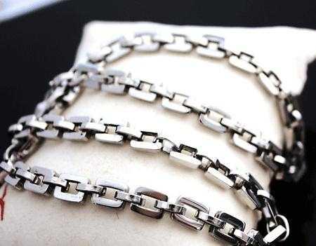 厂家直销 批发男士钛钢项链 吊坠