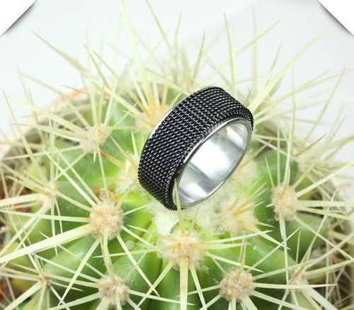 韩版戒指 男女式钛刚戒指 个性情网戒指
