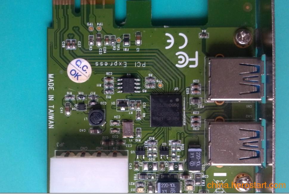 USUSB3.0扩展卡,接口卡优势: USB3.0(SuperSpeed)是新的USB传输标准,是USB2.0技术的升级。它将为您的个人电脑,消费电子产品和通讯设备提供更高的带宽和更为 强大的功能,它的理论带宽为5Gbps,性能超过现行USB2.0接口10倍,它的超高速率以及周边产品的普及,必将成为未来几年内为时髦和瞩 目的IT技术。 主要功能特性描述: a)支持PCI-Express Gen 2.