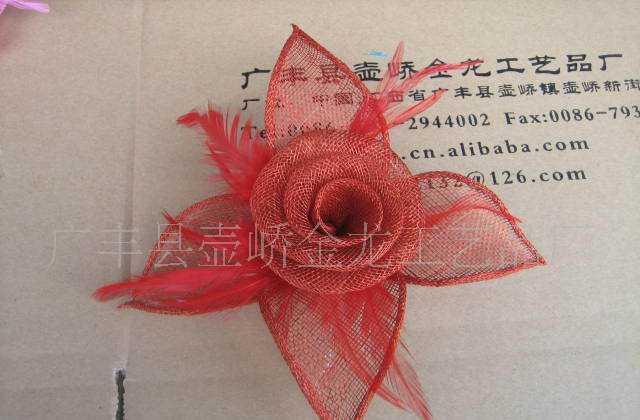 中国麻布产地特供麻布花,剑麻布花,帽花,头花