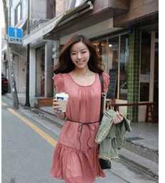 供应3149616韩版女装 短袖雪纺连衣裙 服装服饰代理加盟 加盟创业