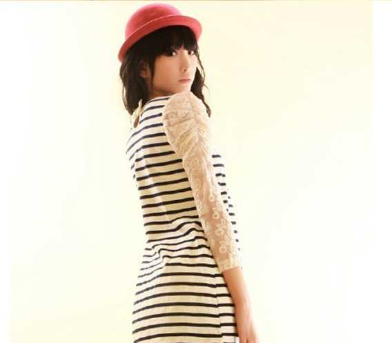 供应D16045春季新款长袖连衣裙 服装服饰加盟 1件代发免费代