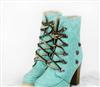 韩版时尚女鞋靴子 淑女 粗跟鞋 短靴 百搭罗马靴马丁靴 骑士靴