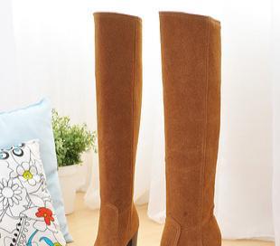 厂家直销 时尚优雅磨砂尖头高跟女式靴子