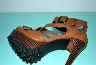 2012新款防水台罗马凉鞋超高跟时装凉鞋承接订单生产