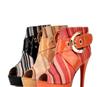 2012时尚铆钉葡萄串珠 鱼嘴鞋细跟高跟凉鞋