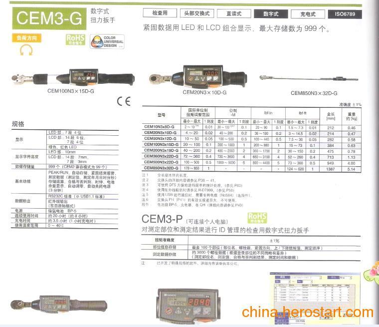 大量供应日本TOHNICHI 数显扭力扳手--CEM3-G系列