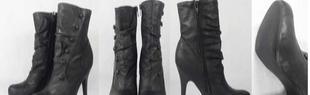 长期供应批发外贸原单库存女鞋时尚侧拉链男靴休闲金属装饰女靴