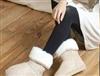 中筒雪地靴批发 平底毛毛雪地靴子 保暖鞋女靴 时尚女鞋