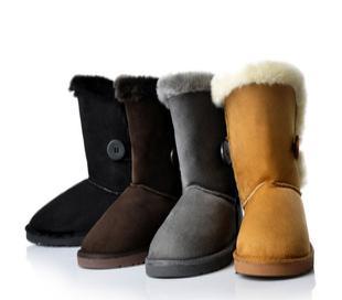 毛毛靴子 2011中筒雪地靴 牛筋底防水女鞋 麂皮 雪地靴LT02825