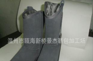 时尚品牌义0义冬季新款真皮柔毛保暖中筒雪地靴5828批发外贸