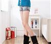网络爆款 时尚个性潮流皮带扣式中筒女靴子