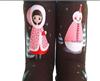 2011秋冬新款 手绘雪人雪地靴 中筒靴子 女靴 招全国代理