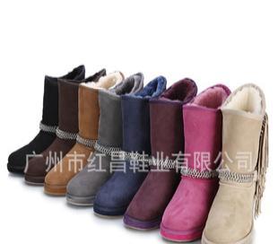 女靴 皮毛一体雪地靴 女款雪地靴 UGG雪地靴批发 男鞋女靴EOM代工
