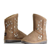 【和美鸟】正品雪地靴 女2011欧美时尚新款铆钉装饰女雪地靴5856