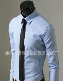厂家专业批发韩版纯色休闲窄领带 单色 一色 素色 窄领带 5cm